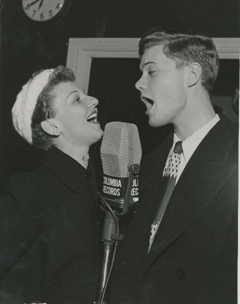 Larry Hagman with Mary Martin